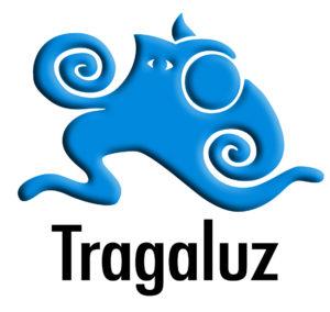 LOGO TRAGALUZ (emboss) letra negra.